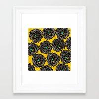 indigo Framed Art Prints featuring Indigo by Simi Design