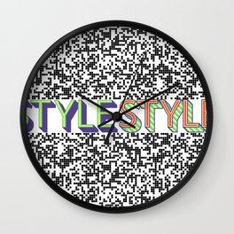 Style Style Stylish Pop Art Pattern Wall Clock