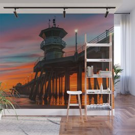 Southside Surfer at Sunset Wall Mural