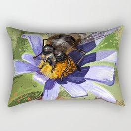 Bee on flower 18 Rectangular Pillow