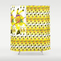 ninja turtle Shower Curtains featuring Ninja Pikaturtle by Sterling Visions