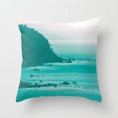 West Coast Dawn Fog Throw Pillow