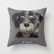 Fidel - The Havanese is the national dog of Cuba Throw Pillow