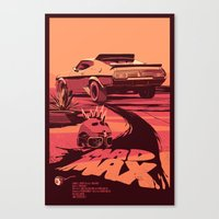 my mad fat diary Canvas Prints featuring Mad Max by Mike Wrobel