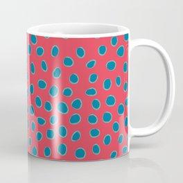 Polka Dots, Spots - Red Turquoise Teal Coffee Mug