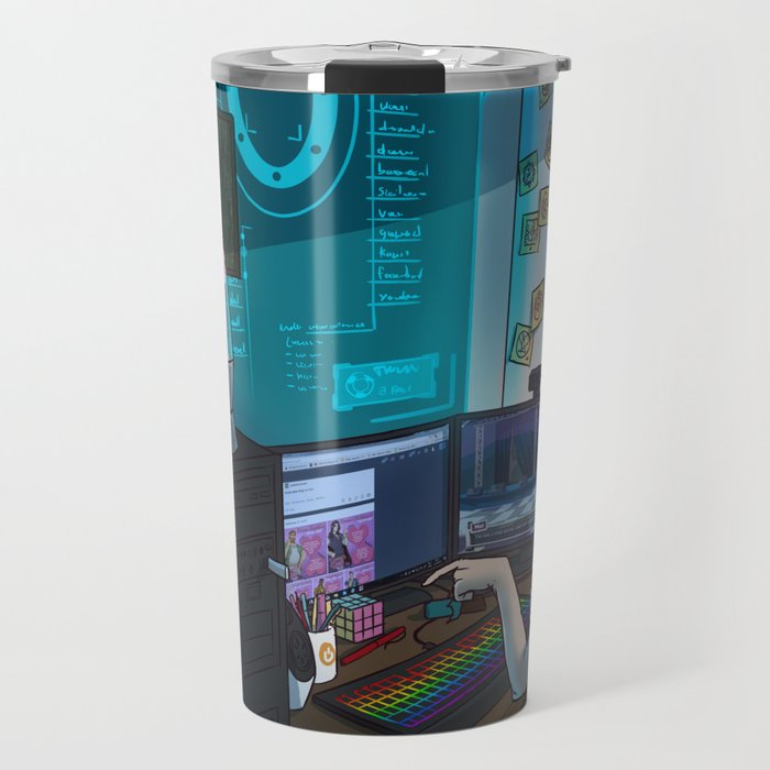 Modern Male Witch: Home Office Travel Mug
