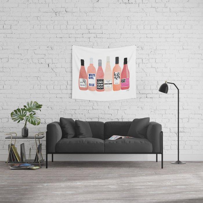 Rose Bottles Wall Tapestry