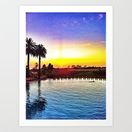 Pelican Hill, Newport Beach Art Print
