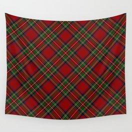 The Royal Stewart Tartan Stuart Clan Plaid Tartan Wall Tapestry