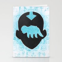 airbender Stationery Cards featuring The Last Airbender by Carmen McCormick
