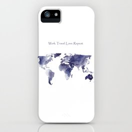 Work. Travel. Love. Repeat iPhone Case