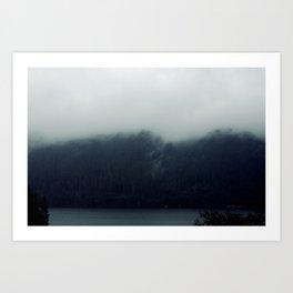 misty mountains 02 Art Print