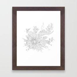 Mount Rainier, WA Contour Map In White Framed Art Print