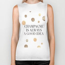 BUT FIRST CHAMPAGNE, Champagne Is Always A Good idea,Drink Sign,Bar Decor,Wedding Quote Biker Tank