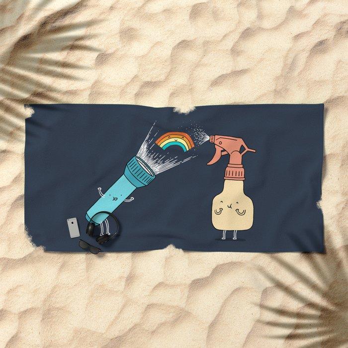 Together we make rainbow Beach Towel