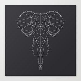 Poly-Elephant Canvas Print