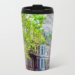 Brooklyn Rainbow Brownstones Travel Mug