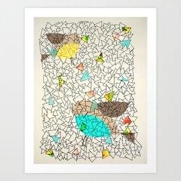 sky of triangles Art Print