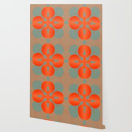 Bold Orange Pattern Abstract Wallpaper