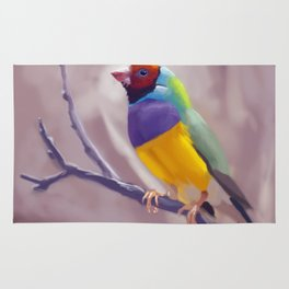 Gouldian Finch Rug