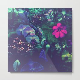 Gathering of Flowers - [Purple Version] Metal Print