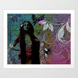 """Hippie Blue"" Art Print"