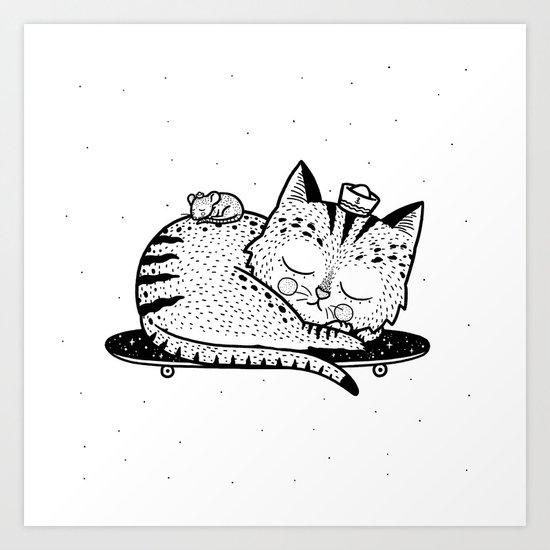 Scat or Die Art Print