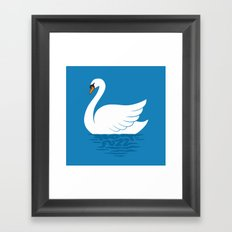 Just The One Swan Actually Framed Art Print