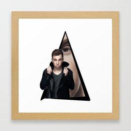 Youtriangle ∆ Hardwell Framed Art Print