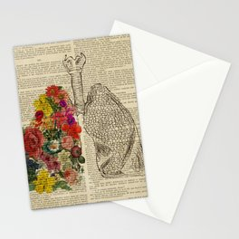 medical spring lungs Stationery Cards