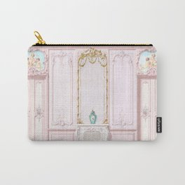 Pink Parisian Apartment Diorama Carry-All Pouch