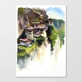 Tiger's nest Bhutan Canvas Print