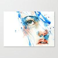 blues Canvas Prints featuring Blues by Jenny Viljaniemi
