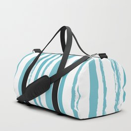 blue streaky pattern Duffle Bag