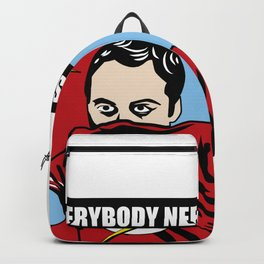 SHELDON COOPER CLEANING AND disinfecting BIG BANG T Backpack