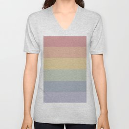 Pretty Rainbow Baby Pastel Unisex V-Neck