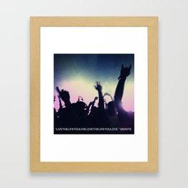 midnite Framed Art Print