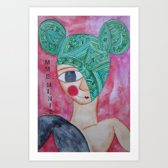 Green Minnie Art Print