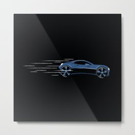 Fast Flashy Car Metal Print