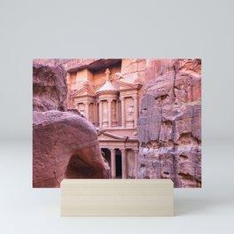 Petra Al Khazneh Treasury Temple Ruins by Day Mini Art Print
