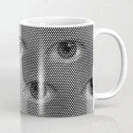 Pop-Art Black And White Eyes Pattern Coffee Mug