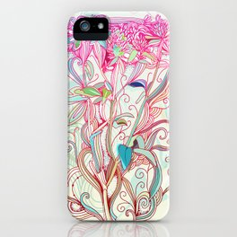 Floral clover iPhone Case