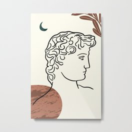 Classical Greek Sculpture Collage Metal Print