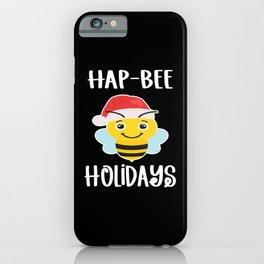 Hap-Bee Holidays Christmas Christmas iPhone Case
