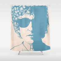 dylan Shower Curtains featuring Dylan by Jeroen van de Ruit