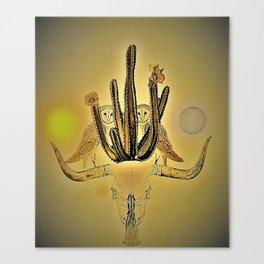 A desert between. Canvas Print