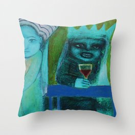Mer Vin! Throw Pillow