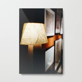 Photo of Maps on a Lamp in Schokland II, Holland/The Netherlands | Fine Art Colorful Travel Photography |  Metal Print