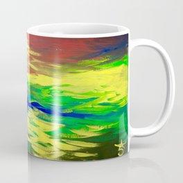 Peacock. Mimosa Inspired Primary Colors. Peacock. Coffee Mug