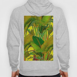 GOLDEN TROPICAL FOLIAGE GREEN & GOLD LEAVES AR Hoody